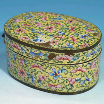 Antique  Qing dynasty Canton enamel box. - Asian