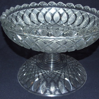 Irish Age of Exuberance 2 Piece Cut Glass Bowl & Stand - Glassware