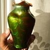 LOETZ TITANIA Orangeopal Mit Grun VASE- Gre-2534