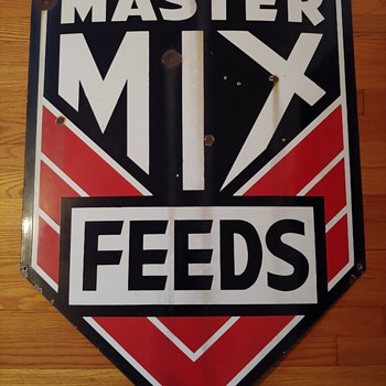 Master Mix Feed Sign - Advertising