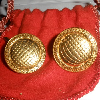 Super Rare Lucky International Open Tournament Cufflinks by Delmas & Delmas Jewelers - Sporting Goods