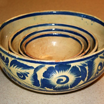 Tonala [?] Set of Mixing Bowls from Mexico - Pottery