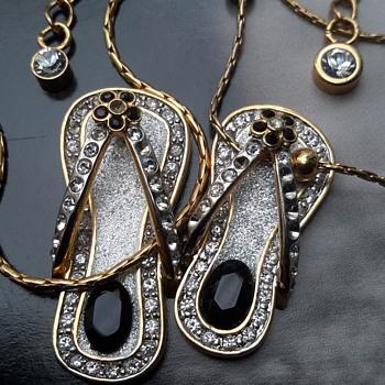 2  sandle/thong pendants by Butler
