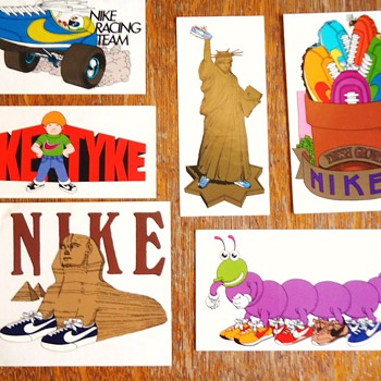 Early 1970's NIKE stickers! - Advertising