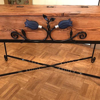 Vintage tool box repurposed for living room furniture  - Tools and Hardware