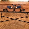 Vintage tool box repurposed for living room furniture