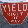 "Early New York City ""YIELD"" Sign"