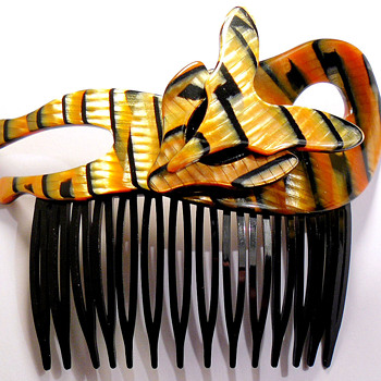 Lea Stein Vintage Hair Comb Barrette - Accessories