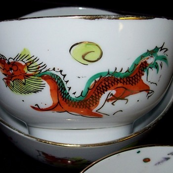 Unknown Maker Mark on Imari Style Bowls