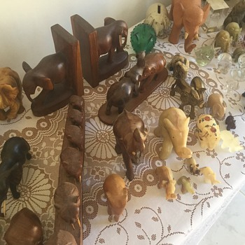 My inheritance of Elephant figurines.... 100+