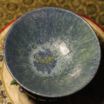 Blue Crystalline Glaze on a Bowl by Gertrude and Otto Natzler - Pottery