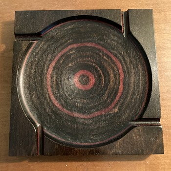 Shur Wood Designs modernist ashtray  - Mid-Century Modern