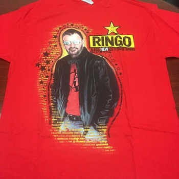 Ringo's personally owned tour shirt-2001