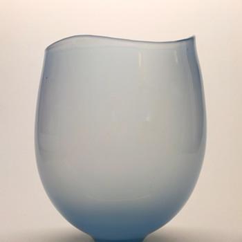Rare light blue Gunnar Nylund vase - Strombergshyttan mid 1950s. - Art Glass