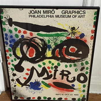 Joan Miro poster for the exhibition. Philadelphia museum of art 1966.