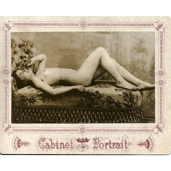 Early Boudoir Style Cabinet Portrait Card - Photographs