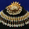 Fabulous 1940's Crystal Choker Necklace & Brooch - Hahne & Co.