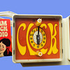 Original 1960's Psychedelic Hippie GE Clock Radio. Mint with Tag.