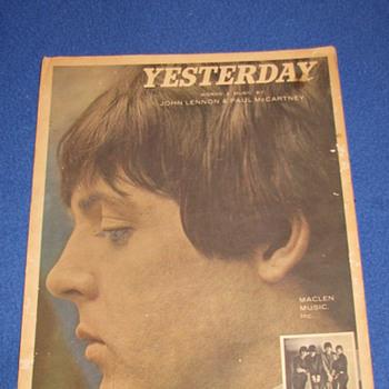 1965 Beatles Sheet Music (YESTERDAY)