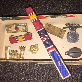 Box of old medals - Military and Wartime