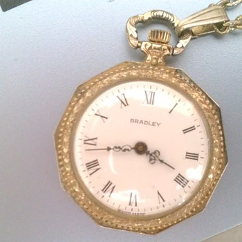 Requesting info on my Bradley Swiss made pocket watch. Thanks!