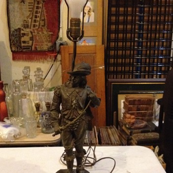 Vintage French Metal lamp - Lamps