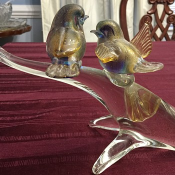 Kitchen window birds - Art Glass