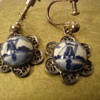 Delft porcelain earrings