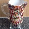 Welz 'harlequin honeycomb' decor jug