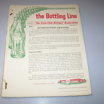 corporate newsletters, The bottling line, from 1960's - Coca-Cola