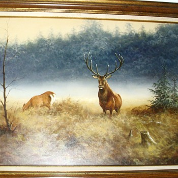 Beautiful picture of deer in the wild. - Fine Art