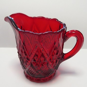 Sowerby Ruby Glass Cream Jug
