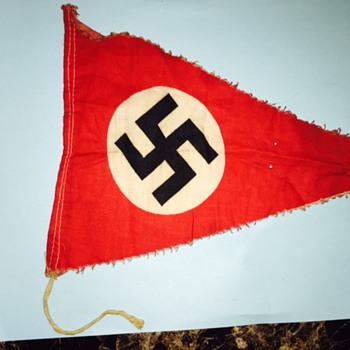 I found the same Nazi flag on the Eisenhower National Historic Site! This was in a box of my dad's WWII items - Military and Wartime