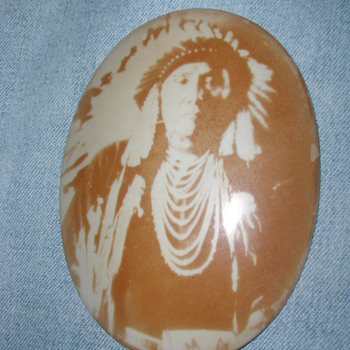 American Indian Portraits on Porcelain - Photographs