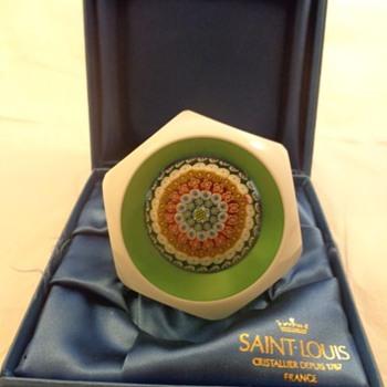 St Louis Paperweight 1981 Double Overlay Millefiori Mushroom - Art Glass