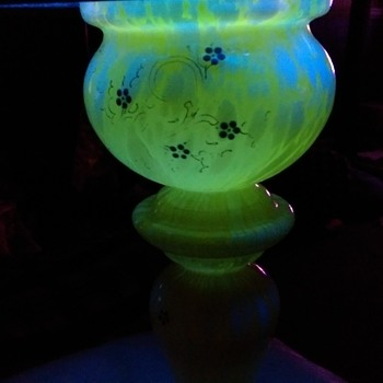 Bohemian Welz Splatter Glass vase. - Art Glass