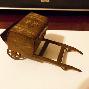 Little Toy Copper or Brass Trunk Wagon - Toys