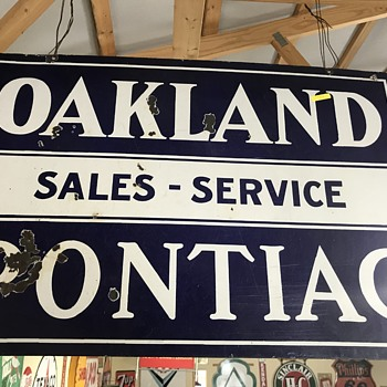 Original Pontiac Oakland sales and service  - Signs