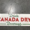 Canada Dry soda sign porcelain 1940's
