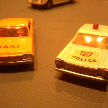 The '64 Impala Taxi and the 65 Ford Galaxie Police car... Who didn't have these?   - Model Cars