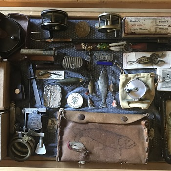 Antique fly fishing tackle Etc - Fishing
