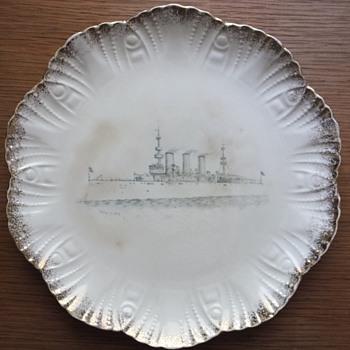 Porcelain Plate with New York Steamship  - Military and Wartime
