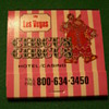 Vintage Circus Circus Casino Matchbook ~ Las Vegas, Nevada