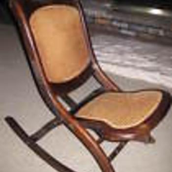 Antique Folding Rocker - Furniture
