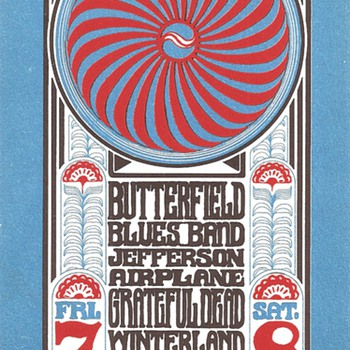 Butterfield, Airplane, Dead @ Winterland, BG-30 - Posters and Prints