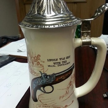 Beer Stein with Gun that shot Lincoln