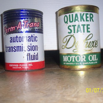 transmission fluid can and mototr oil