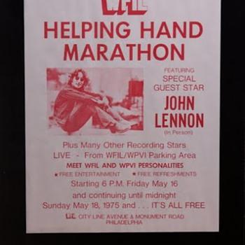 John Lennon flyer-1975 - Music Memorabilia