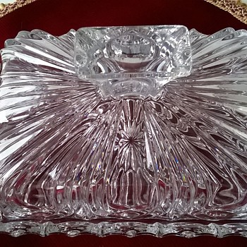 Lead Crystal Butter Dish, Thrift Shop Find 3,50 Euro ($3.86)   - Kitchen