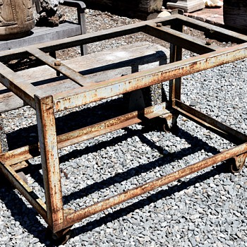 Large Iron Industrial Cart - Furniture